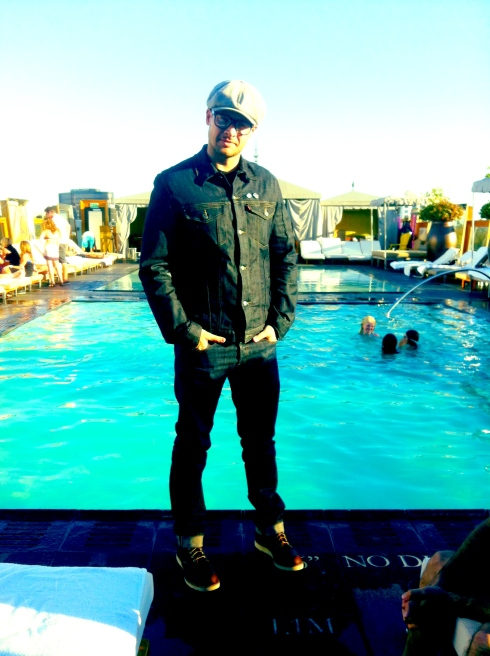 Spotted Noah Abrams In A Canadian Tuxedo At The Sls Hotel In Beverly Hills That 39 S One Dope