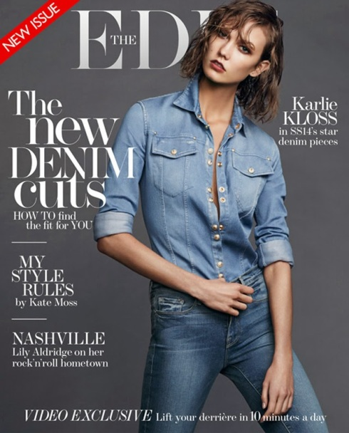 Karlie Kloss double denim