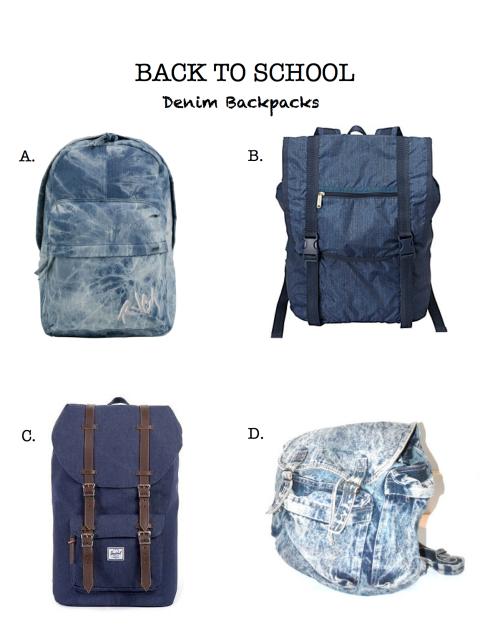 Denim Backpacks