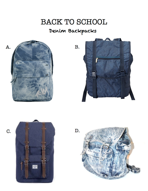 Denim Backpacks